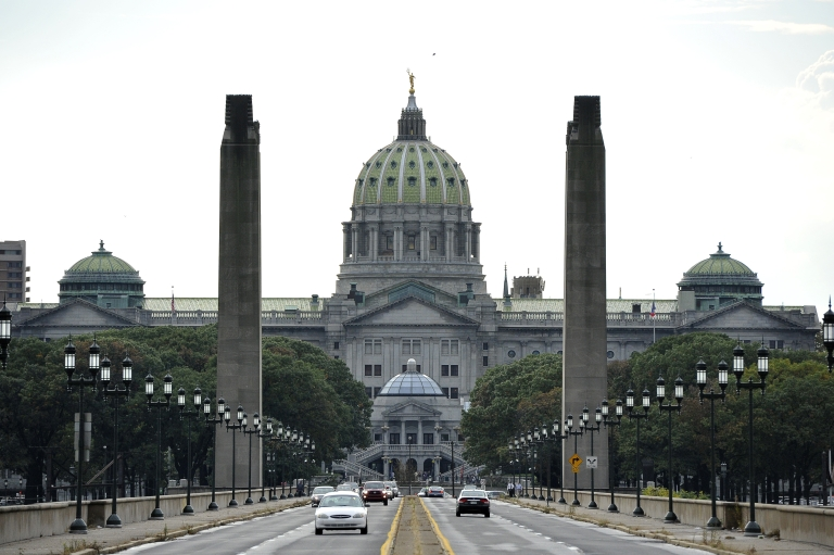 <p>The Capitol Building in Harrisburg, Pa., on Oct. 14, 2011.</p>