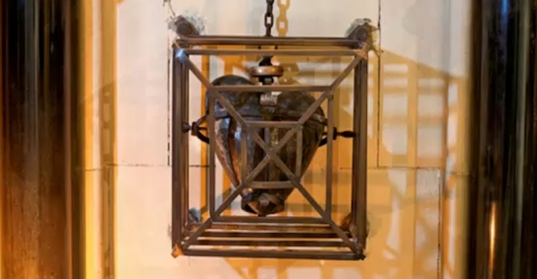 <p>St. Laurence O'Toole's heart on display in Christ Church Cathedral in Dublin, Ireland, before it was stolen on March 3, 2012.</p>