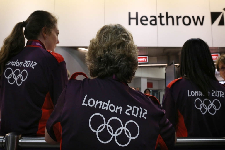 <p>LONDON, ENGLAND - Heathrow airport is bracing for a mass exodus of visitors as 200,000 people a day leave after the London Olympic Games.</p>