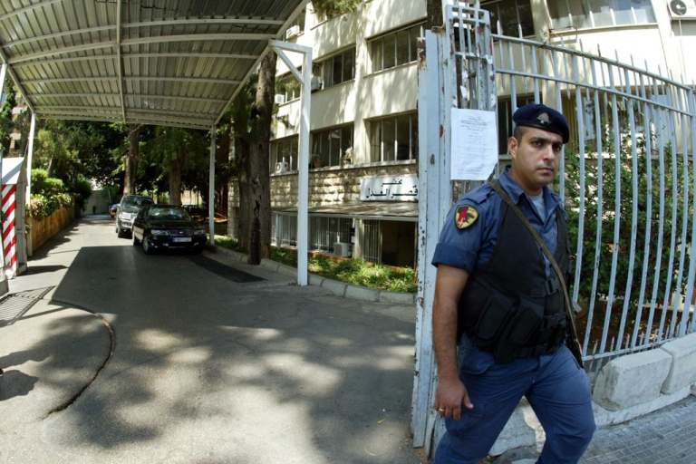 <p>A Lebanese security man stands guard in front of the Justice Palace in Beirut, where Canadian farmer Henk Tepper spent that last year. Algeria accused Tepper of selling rotten potatoes, and he was arrested on an international Interpol notice.</p>