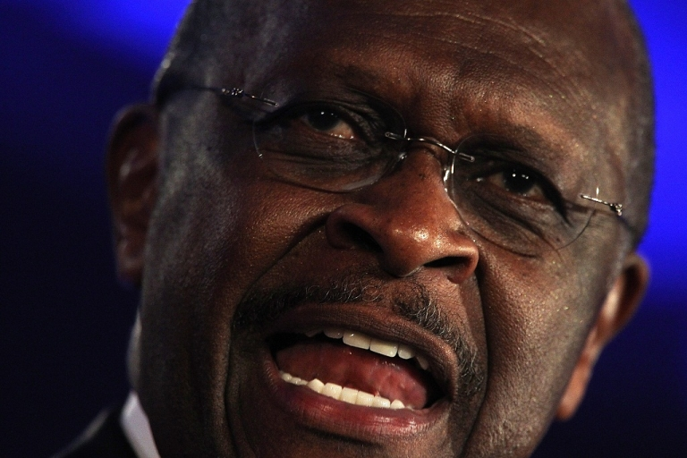 <p>Herman Cain, a Republican presidential hopeful, said that U.S. communities should be able to prevent the construction of mosques in their neighborhoods.</p>
