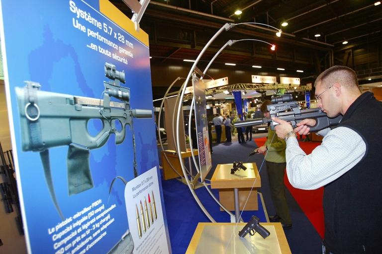 <p>An FN Herstal assault rifle. Unemployment in the company's base of Liege has reached 20 percent.</p>