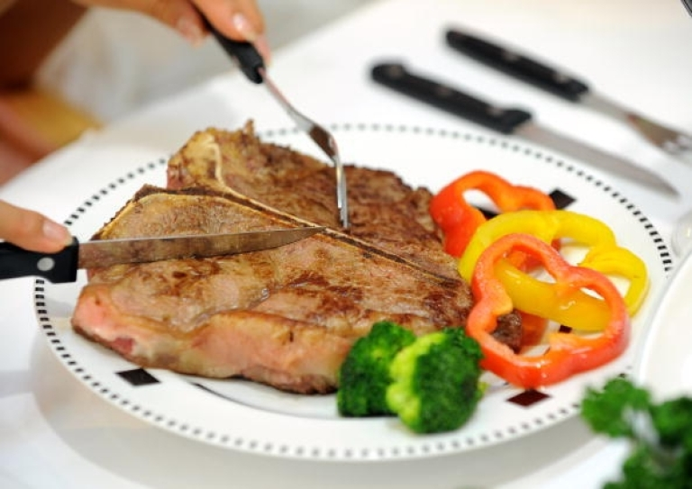 <p>T-bone steak, on the other hand, is totally heterosexual meat.</p>