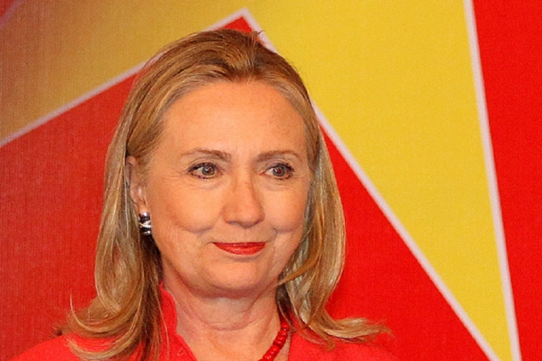 <p>US Secretary of State Hillary Clinton pictured in Hanoi, Vietnam on July 10, 2012, a day before flying to Laos.</p>