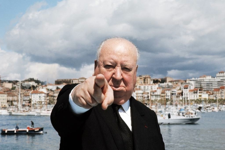 <p>Picture taken in May 1972 of British film director Alfred Hitchcock (1899-1980) posing on a boat in Cannes before the international film festival.</p>