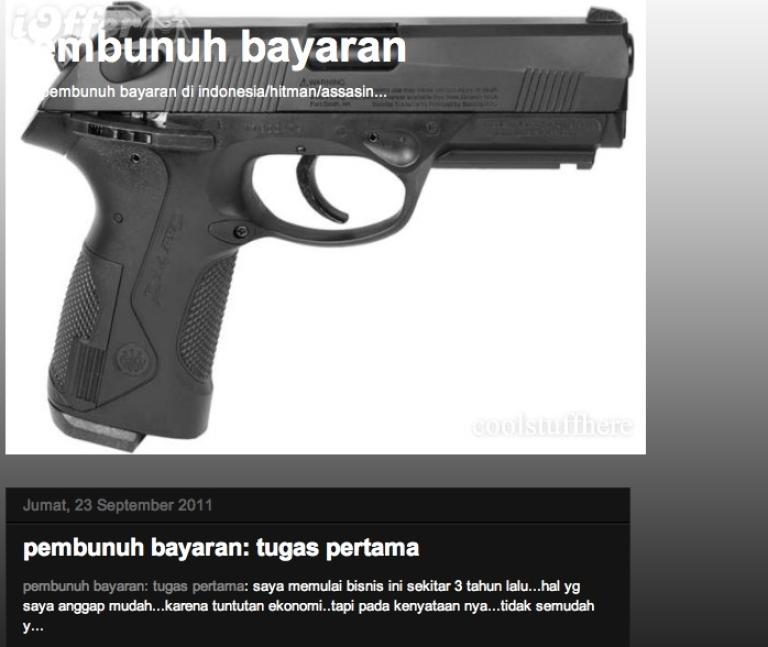 <p>The home page of pembunuh-bayaran.blogspot.com.</p>