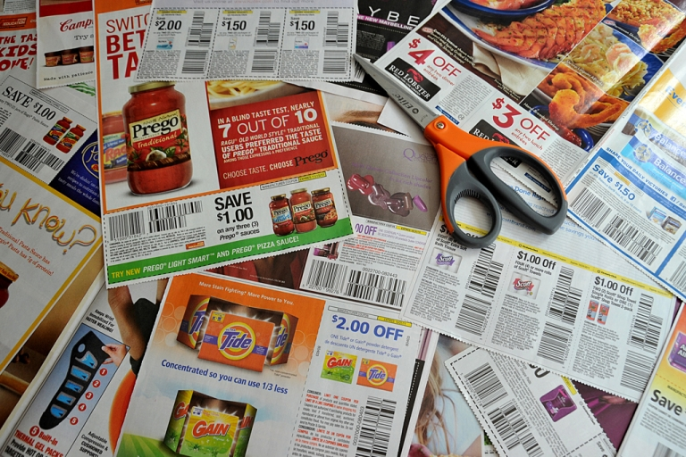 <p>Coupons from the advertising section of the Sunday newspaper on Sept. 13, 2011, in Washington, D.C. Honey — a new extension on Google Chrome — is a coupon company that surfs the web for discounts at the exact moment you're checking out of an e-commerce store.</p>