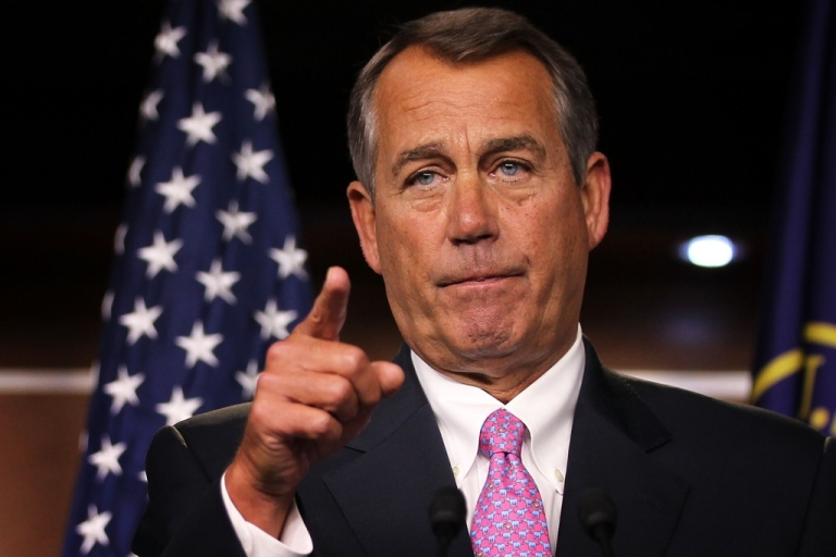 <p>John Boehner, speaker of the US House of Representatives. House Republican leaders said they would not hold any votes tonight.</p>