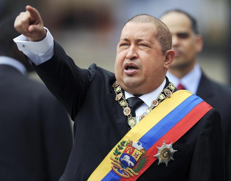 <p>Venezuelan President Hugo Chavez.</p>