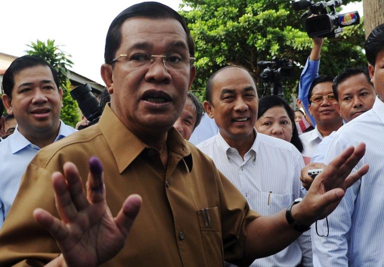 <p>Hun Sen, Cambodia's prime minister, in 2012.</p>