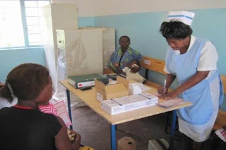 <p>Clinics like this one in Zambia could be affected by the Global Health Initiative's new program.</p>