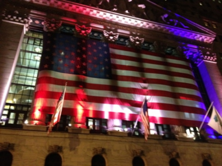 <p>The New York Stock Exchange on November 3, 2012 in New York's Financial District.</p>