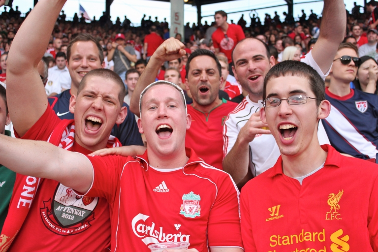 <p>Many of the fans got into the soccer spirit, chanting and cheering throughout the game.</p>