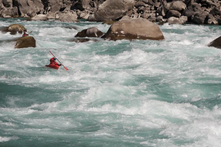 <p>Paddler Ben Stookesbury on the Lohit River, India.</p>
