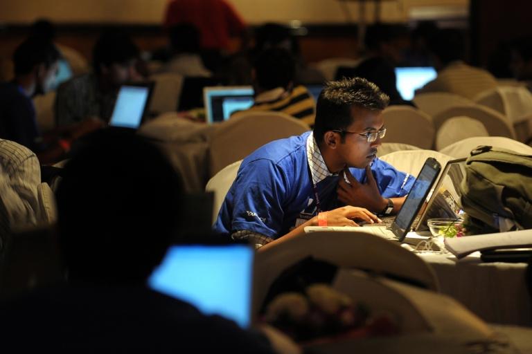 <p>IT professionals in Bangalore.</p>