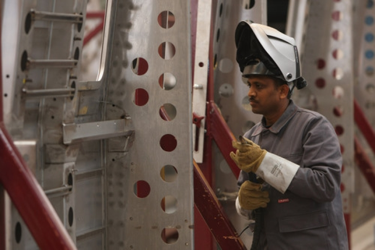 <p>Reversing several months of negative signals, India's factory output surged to a six-month high in December, while other Asian industrial powers stagnated.</p>