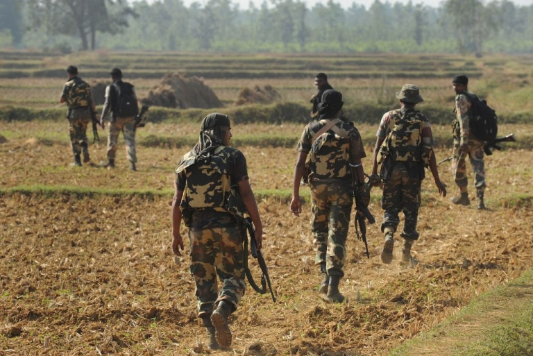 <p>File Photo -- Indian paramilitary force search for Maoist rebels in Nov. 2011 near Burisole, south-west of Kolkata.</p>
