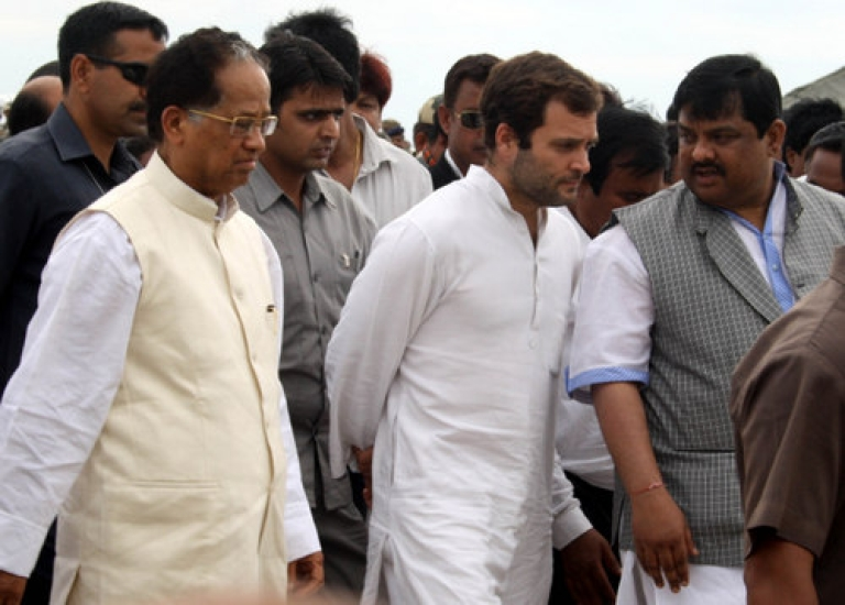 <p>Rahul Gandhi, the All India Congress Committee General Secretary, meets victims of a ferry boat tragedy in Assam earlier this month. As the Congress-led United Progressive Alliance marks the third year of its second term Monday, a new survey shows voters would prefer the Gandhi family scion to step up and run for prime minister in 2014.</p>