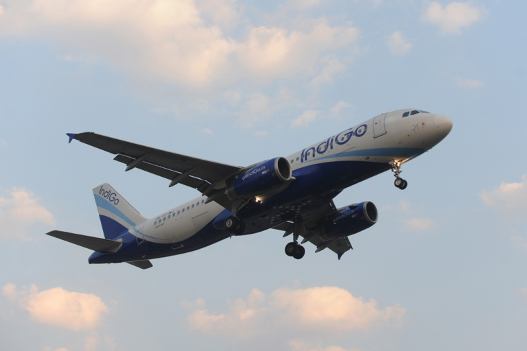 <p>An Indigo Airlines plane approaches Ahmedabad airport on Dec. 27, 2010.</p>