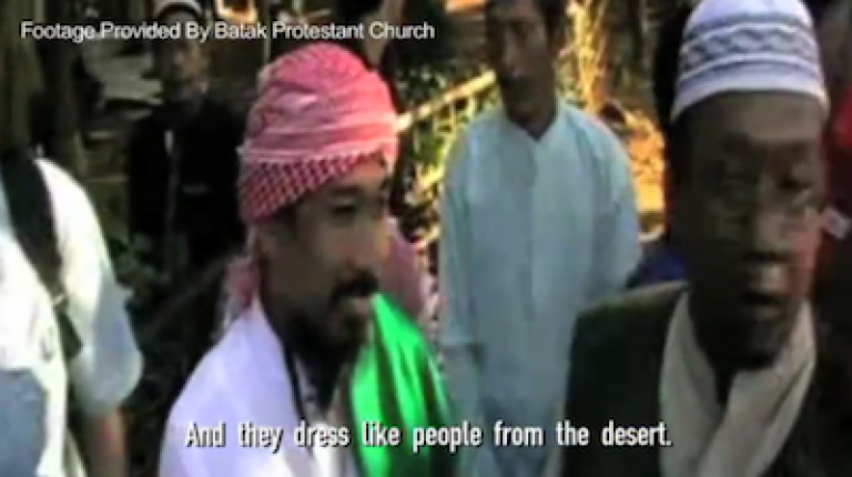 <p>Suspended chapter head of Indonesia's Islamic Defenders Front, Murhali Barda, from a 2010 Global Post video.</p>