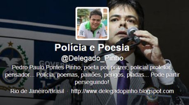 <p>Inspector Pedro Paulo Pontes Pinho's Twitter account, where he criticized female officers.</p>
