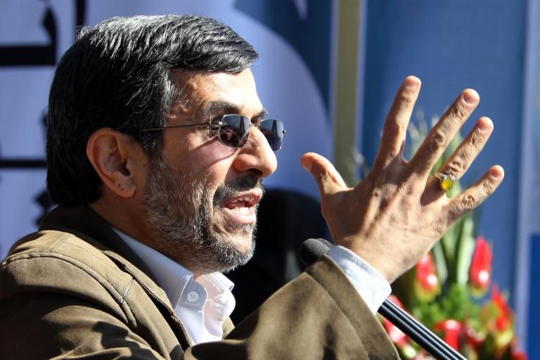 <p>Iran President Mahmoud Ahmadinejad delivers a speech in Tehran on Feb. 11, 2012.</p>