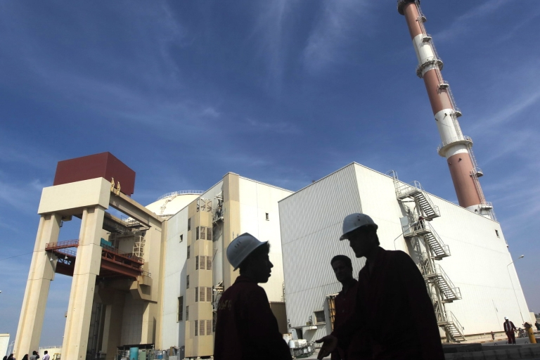 <p>The reactor building at the Russian-built Bushehr nuclear power plant in southern Iran, 750 miles south of Tehran. Inspectors from the UN nuclear watchdog agency said traces of uranium enriched up to 27 percent were found at Iran's underground nuclear site at Fordo on May 25, 2012.</p>