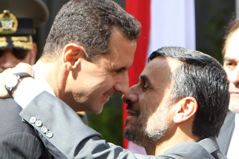 <p>Iranian President Ahmadinejad worries for his ally President Bashar al-Assad and calls for dialogue</p>