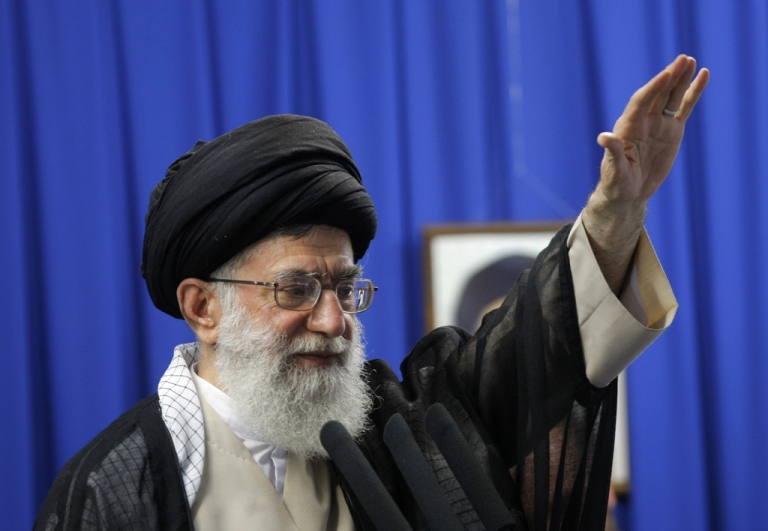 <p>Iran's supreme leader Ayatollah Ali Khamenei has praised Obama's diplomatic approach to solving the two nations' tensions over Iran's nuclear program.</p>