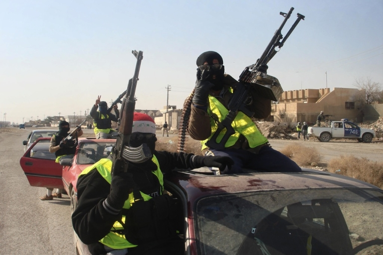<p>Iraqi militias, like the Sahwa or 'Awakening' militiamen pictured here, have been consistently targeting and murdering Iraqi homosexuals or those who are