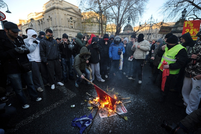 <p>About 50,000 Irish people took to the streets on Nov. 27, 2010 to oppose savage cutbacks needed to secure an international bailout. During Ireland's tough economic times its suicide rate has skyrocketed, with young men the worst affected.</p>