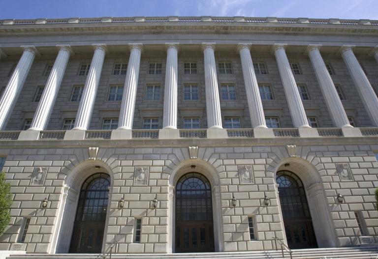 <p>The US Internal Revenue Service building in Washington, DC.</p>