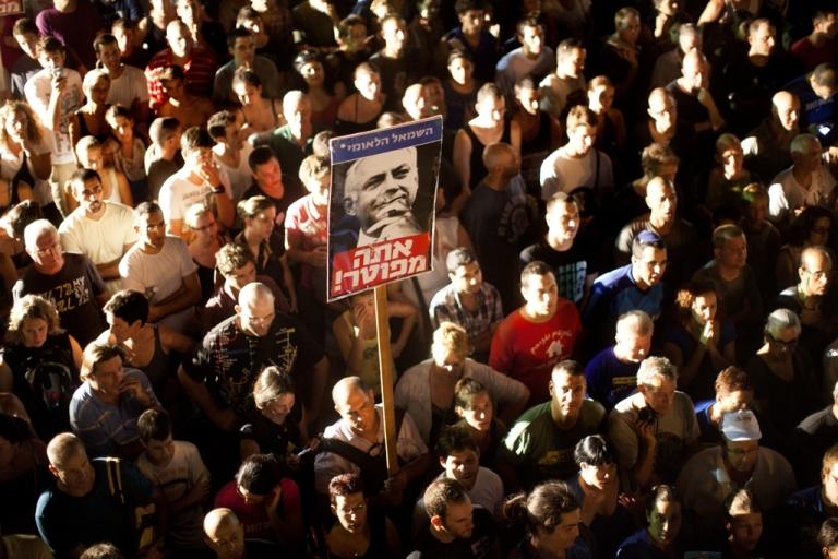 <p>Demonstrators pack the streets of Tel Aviv, Israel on Sept, 3, 2011 .</p>