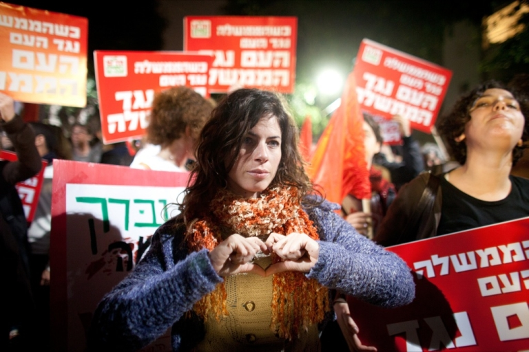 <p>People demonstrate against a possible Israeli military attack and war with Iran on March 24, 2012 in Tel Aviv, Israel. As the balance between war and diplomacy continually teeters, Israel's leaders are afraid that a nuclear-armed Iran is an existential threat and if negotiation efforts fail, Israel could strike this year.</p>