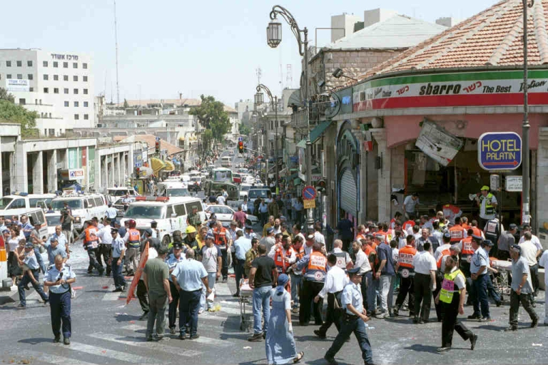 <p>At least 18 people, including six children, were killed in a Palestinian suicide bombing in 2001 at a Sbarro's pizzeria on Jaffa Street. Now, it's one of the sights tourists can see on