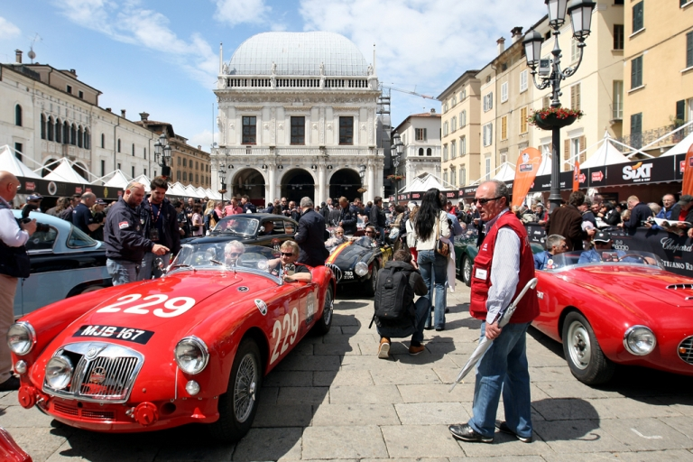 <p>A vintage Alfa Romeo Sprint Pininfarina attends the Mille Miglia 2010 on May 6, 2010 in Brescia, Italy. As gas prices soar for Italians, many have looked to the black market to provide cheaper fuel.</p>