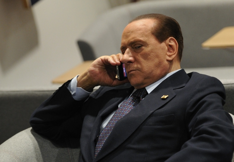 <p>Italian Prime Minister Silvio Berlusconi prior to a European Council meeting on Oct. 23, 2011. The euro zone is aiming to nail down a solution to the worst economic crisis in its history, as the spotlight falls on Italy amid contagion fears. (Eric Feferberg/AFP/Getty Image)</p>