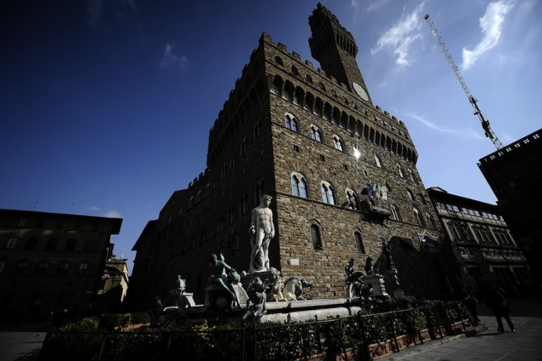 <p>Florence's most famous palace, the Palazzo Vecchio, on March 8, 2010.</p>