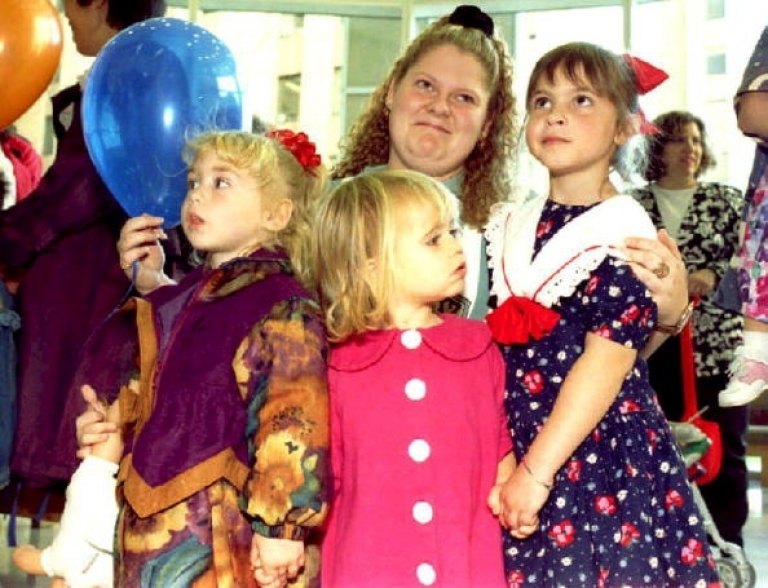 <p>Louise Brown (top), from England, was the first ever child to be conceived through in-vitro fertilization.</p>