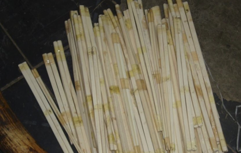<p>Ivory chopsticks seized by the Ethiopian Wildlife Conservation Authority during a 2009 raid of the Merkato, a market in central Addis Ababa, Ethiopia.</p>