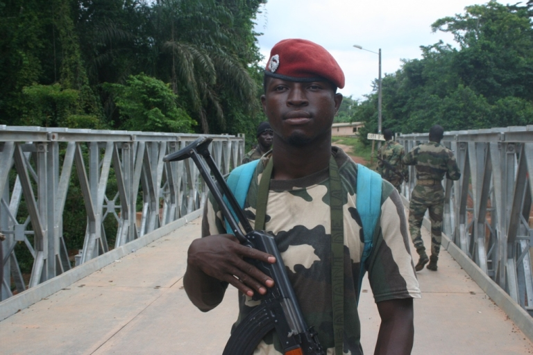 <p>Commander Angelou of Ivory Coast's rebel Forces Nouvelles, the armed force that supports Alassane Ouattara, as the internationally recognized election winner.</p>