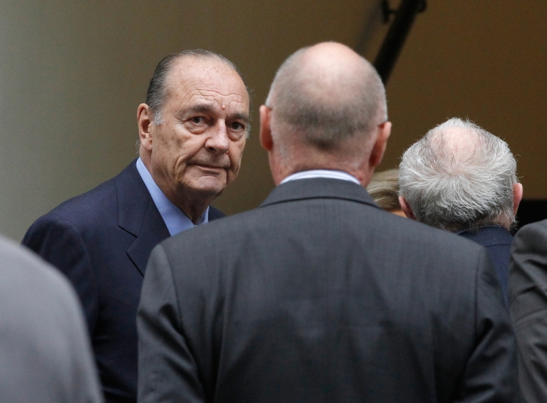 <p>Former French President Jacques Chirac pictured in Paris, November 24, 2011.</p>