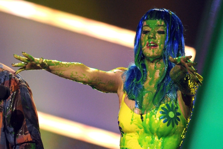 <p>Singer Katy Perry onstage at Nickelodeon's 23rd Annual Kids' Choice Awards in Los Angeles, California.</p>