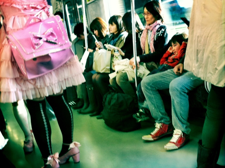 <p>Commuters travel on a train on the Yamonote Line on March 20, 2011 in Toyko, Japan.</p>