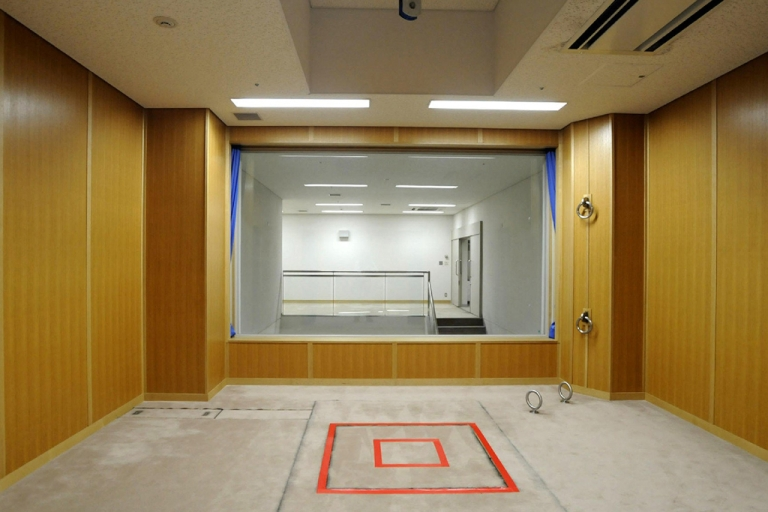 <p>This photo shows an execution room at the Tokyo detention house in Tokyo, Japan. Kanae Kijima, dubbed