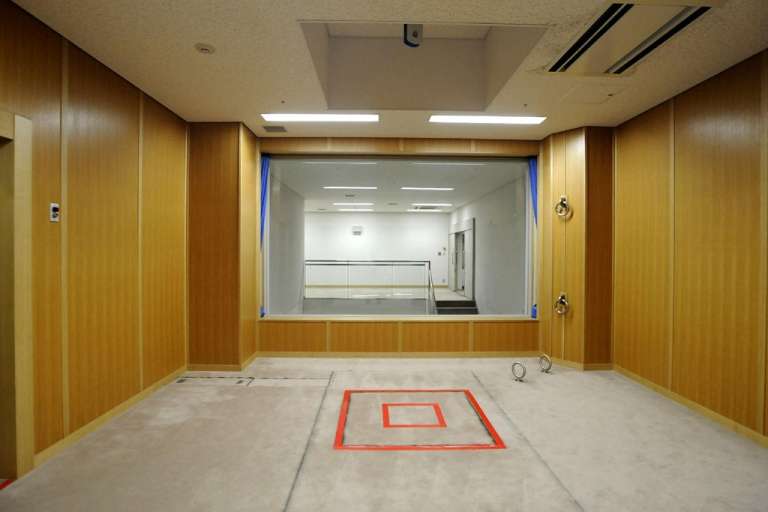 <p>This photo taken during a media tour conducted by Japan's Justice Ministry on Aug. 27, 2010, shows an execution room at the Tokyo detention house. Japan, one of the few industrialized democracies to maintain the death penalty, threw open the doors to its execution chamber for the first time to media.</p>