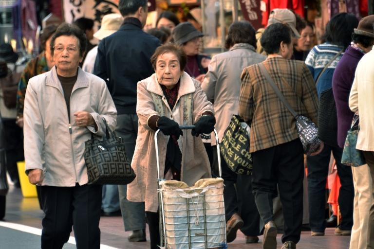 <p>Japan's population is expected to shrink by 30 percent by 2060, due to high life expectancy and low birth rates.</p>