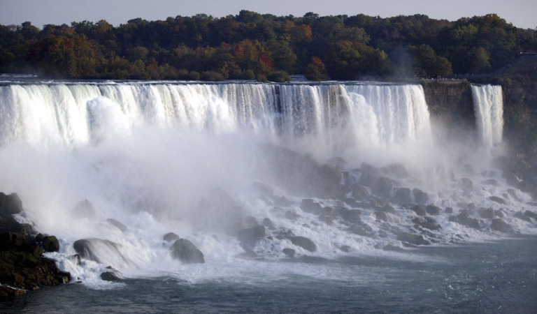 <p>Niagara Falls as seen from the Canadian side. A Japanese woman is presumed dead after climbing over a railing by the Niagara Falls, losing her footing and tumbling in.</p>