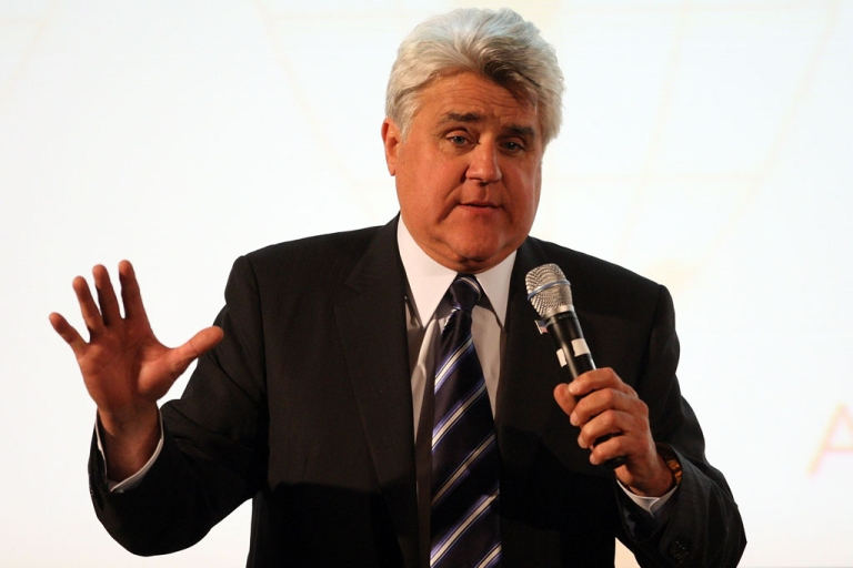 <p>Television host Jay Leno at the Beverly Hills Hotel on April 29, 2009.</p>