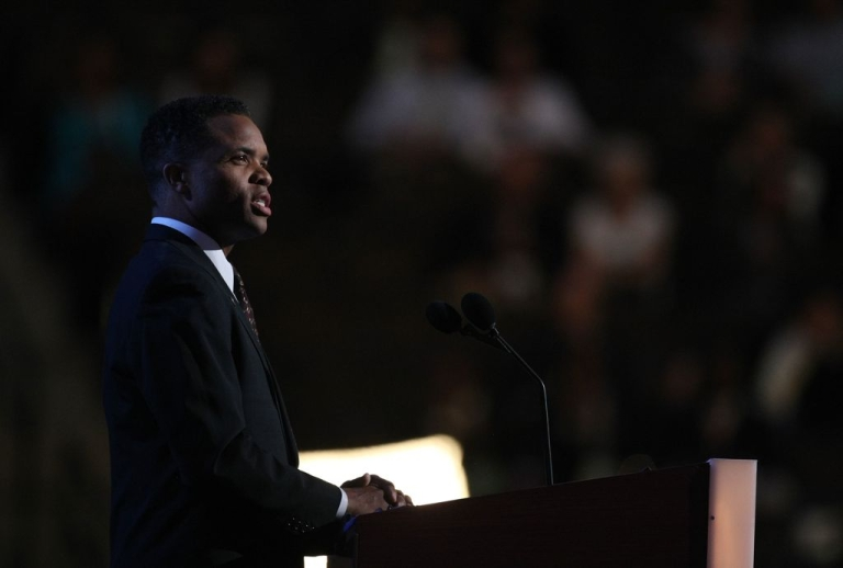 <p>Jesse Jackson Jr. addressing the Democratic National Convention, August 25, 2008 in Denver, Colorado.</p>